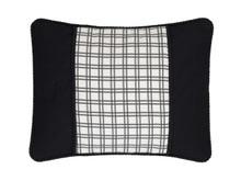 Bouvier Black Plaid Breakfast Pillow - 13864100311