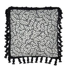 Bouvier Black Leaf Pillow - 13864100328