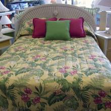 Yellow Tropical Bedspread -