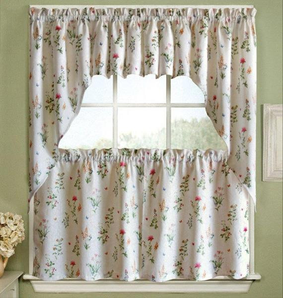 English Garden Printed Tier Curtains -