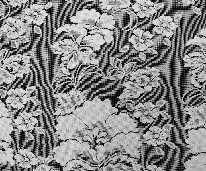 Floral Vine Lace Curtain -