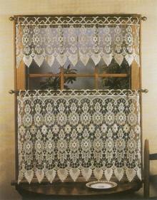 Medallion Macrame Tier Curtain -