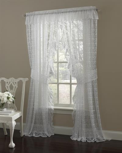 Priscilla Ruffled Curtain Pair - 748779196615
