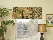 Bahamian Nights Button Pleat Valance -