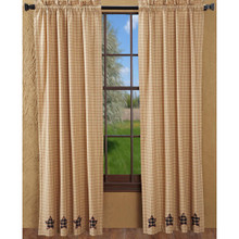 Bingham Star Applique Curtains - 841985005501