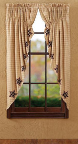 Bingham Star Applique Prairie Curtain - 841985023741
