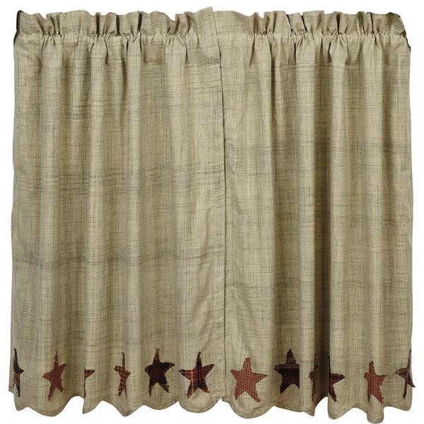 Abilene Star Tier Curtain - 840528110665