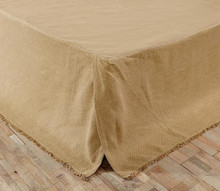 Burlap Natural Bed Skirt - 841985034143