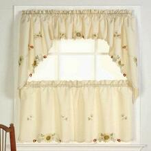 Sunflower Embroidered Tier Curtain - 748780000000