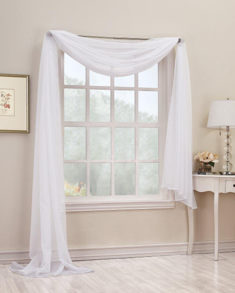 Emily Sheer Voile Scarf Valance - 29927198997