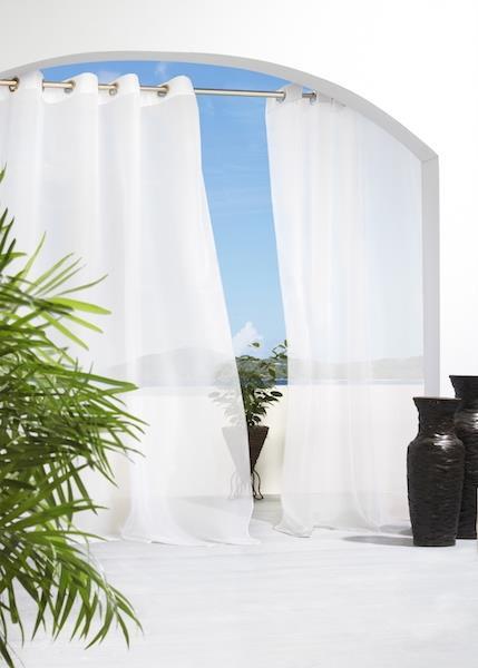 Escape Outdoor Grommet Sheer Curtain - 69556455122