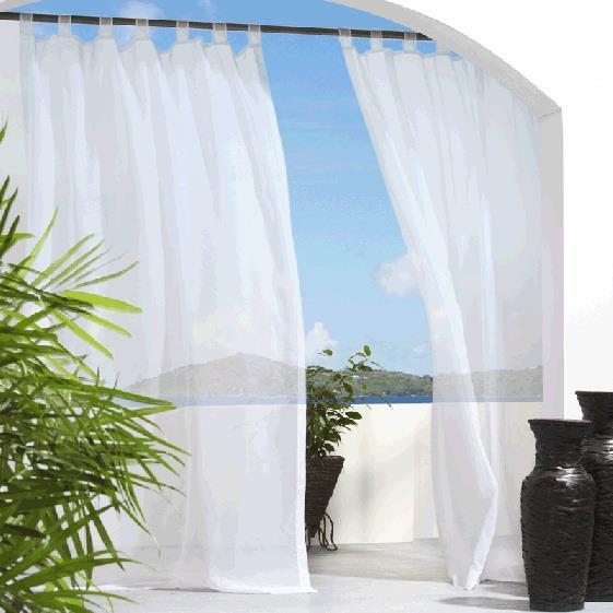 Escape Velcro Tab Top Outdoor Sheer Curtain - 69556454613