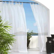 Escape Velcro Tab Top Outdoor Sheer Curtain - 69556454613