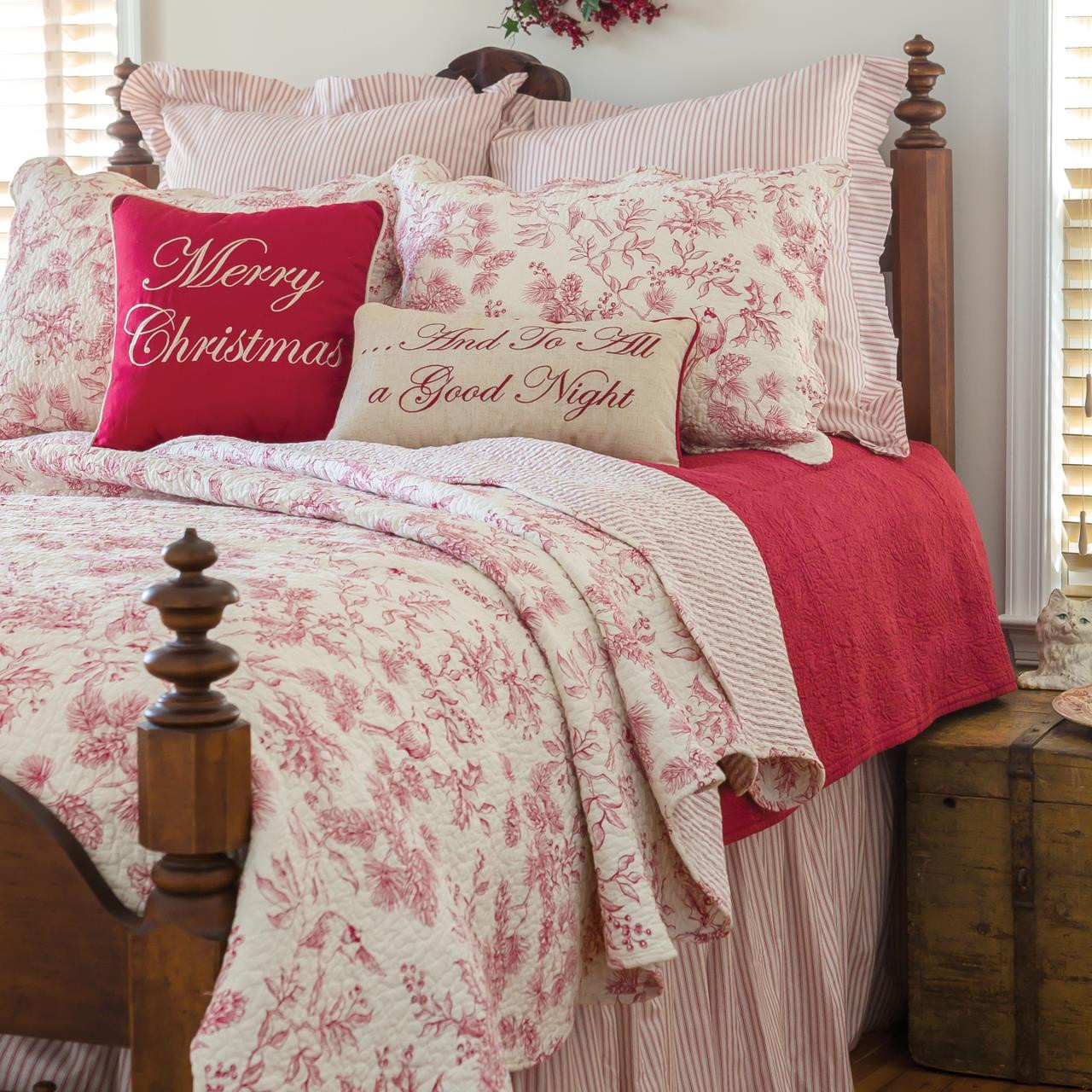 Evergreen Toile Quilt Collection -