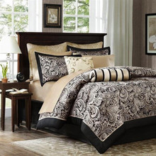 Aubrey Black Bedding Ensemble - 675716735777