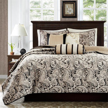 Aubrey Black Quilted Coverlet Set - 675716746063