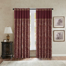 Aubrey Burgundy Curtains - 675716745851