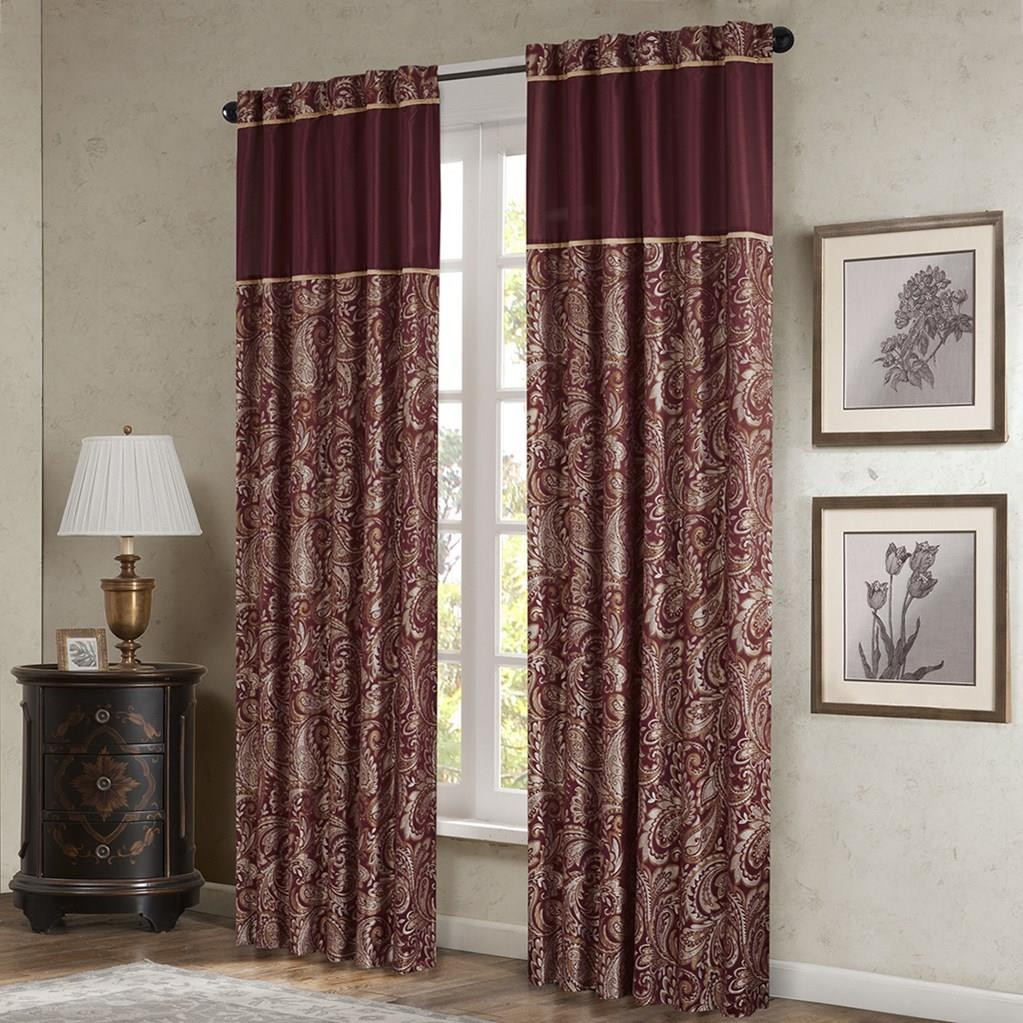 Aubrey Burgundy Curtains - 675716745851