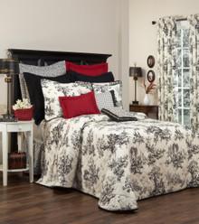 Bouvier Black Bedspread - 13864100410
