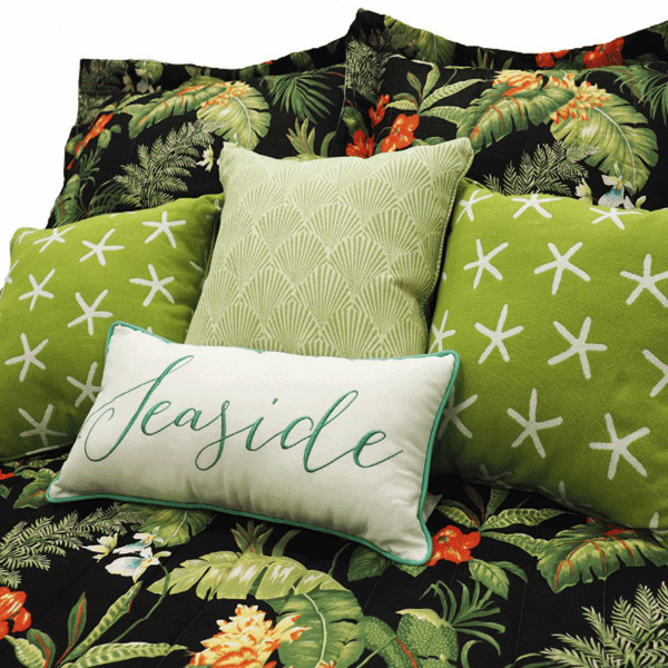 Black Tropical  Bedspread Collection -