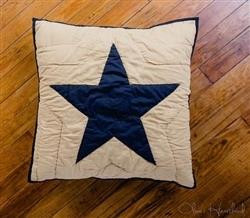 Black and Tan Quiled Star Euro Sham - 844160082380