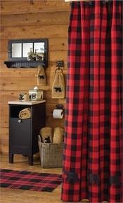 Buffalo Check Shower Curtain -