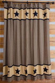 Black and Tan Shower Curtain -