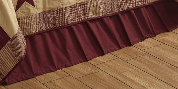 Burgundy or Tan Bed Skirt -