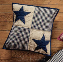 Black and Tan Quilted Patch Pillow - 844160082465