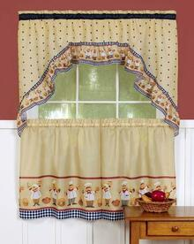 Cucina Printed Tier Kitchen Curtain Set -