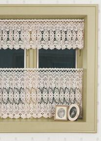 Dogwood Macrame Lace Tier Curtains -