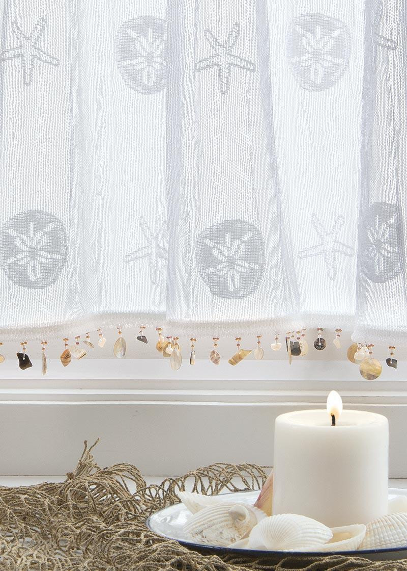 Sand Dollar Lace Curtain Collection -