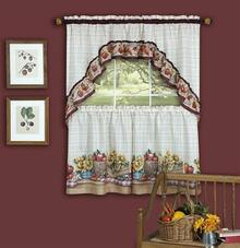 Farmer's Market Tier Curtain Set -