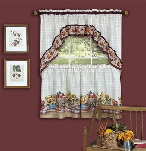 Farmer's Market Tier Curtain Set -