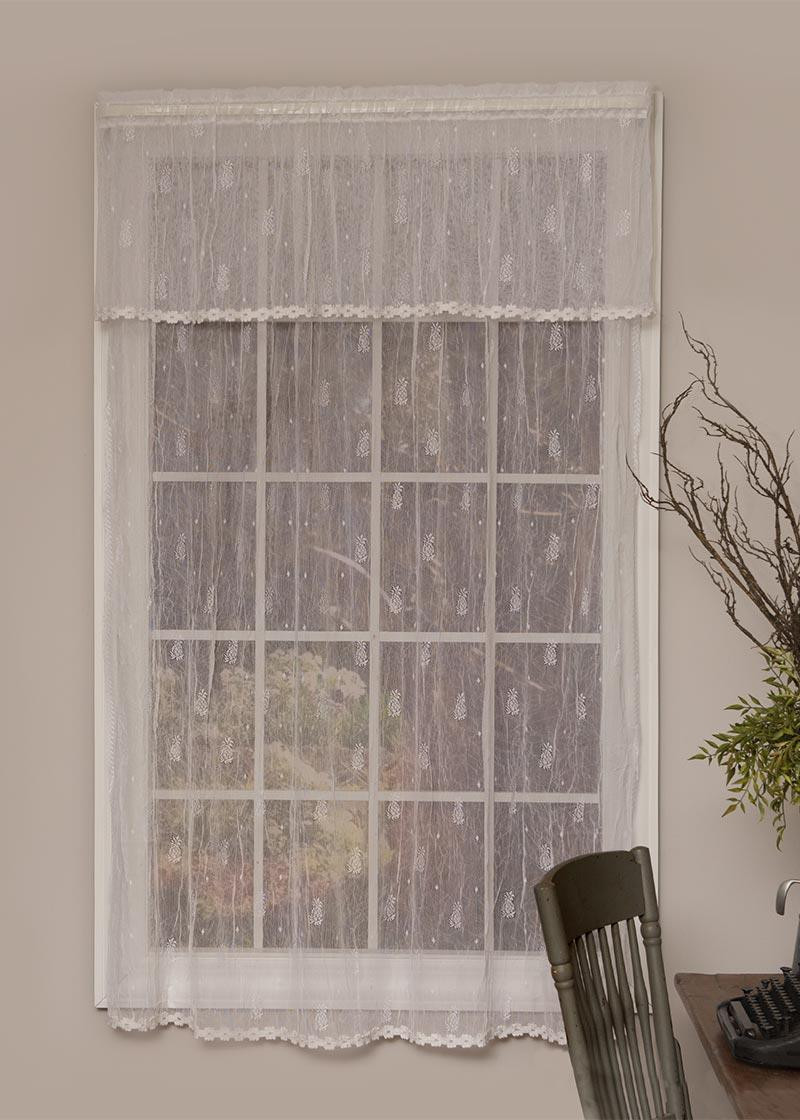 Pineapple Sheer Lace Curtain Collection -