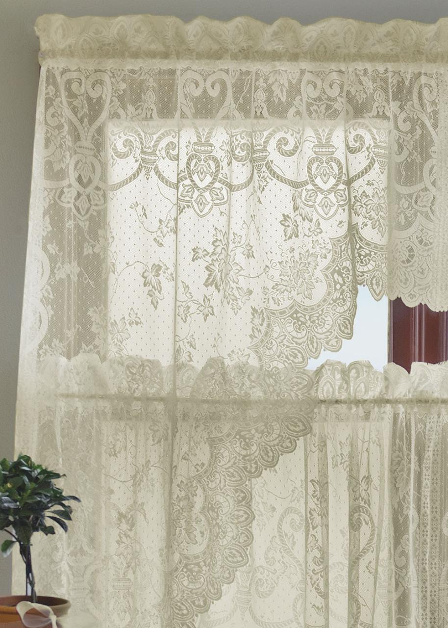 English Ivy Lace Curtain Collection -