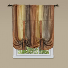 Ombre Tie Up Shade Curtain - 054006628744