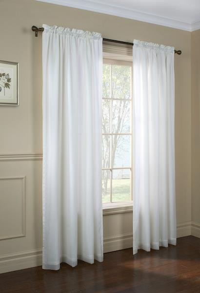 Rhapsody Lined Semi Sheer Voile Curtain - 069556 457317