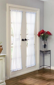 Rhapsody Lined Semi Sheer Door Panel - 069556 457690