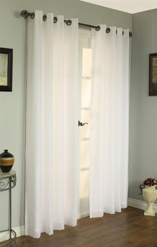 Rhapsody Thermavoile Lined Sheer Grommet Patio Panel - 069556190153