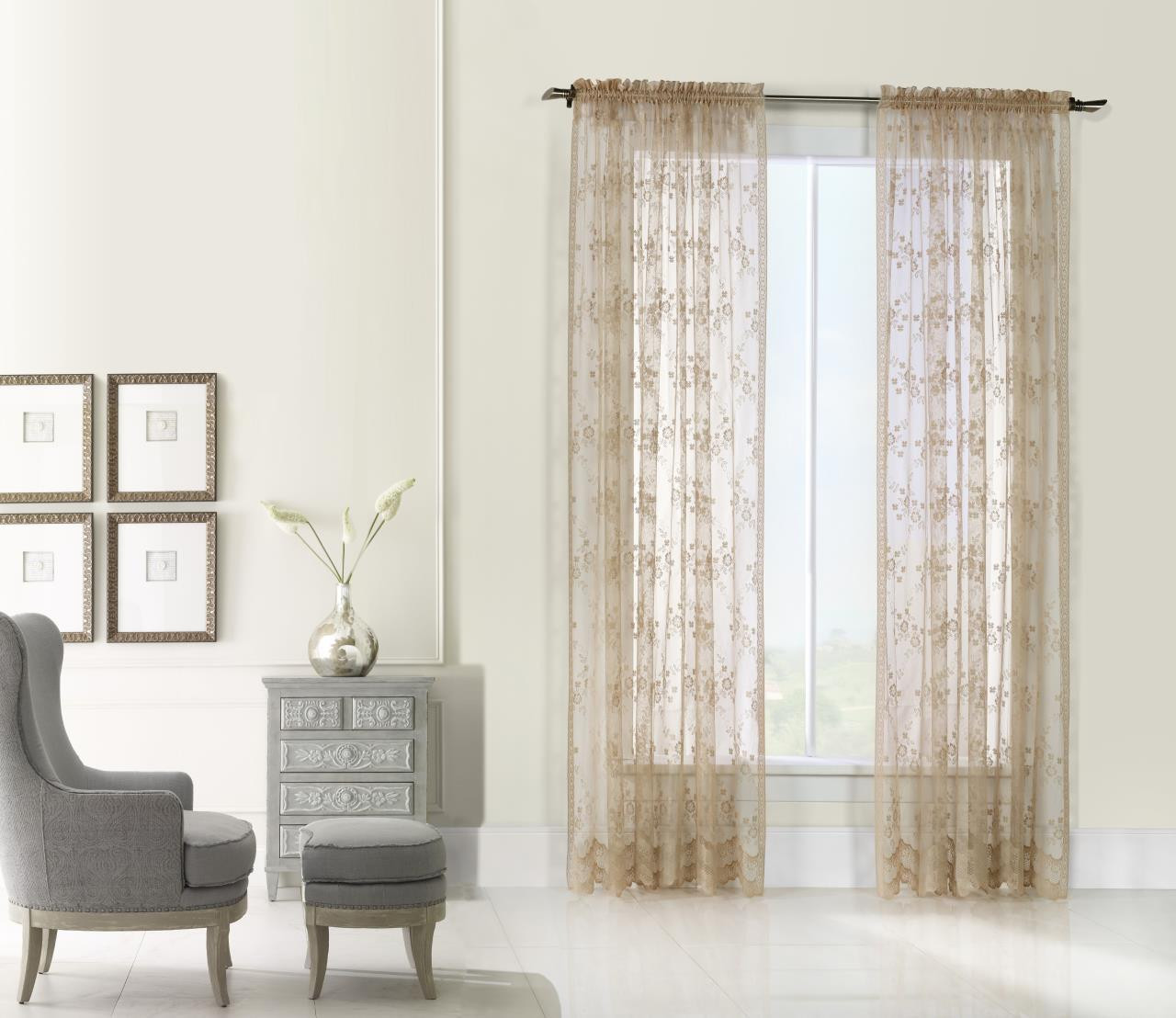 Mona Lisa Lace Sheer Curtain Collection -