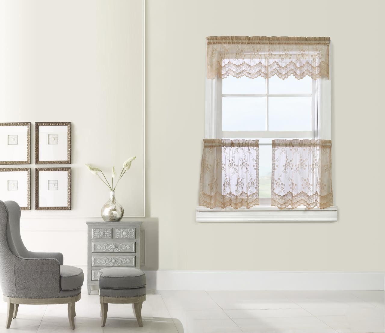 Mona Lisa Lace Tier Curtains -