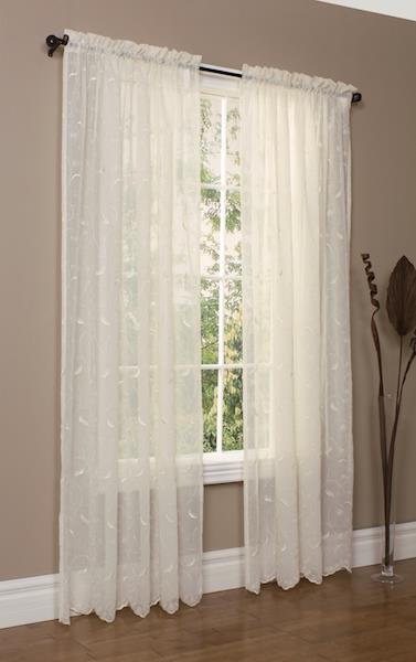 Hathaway Scroll Sheer Floral Curtain - 69556729179