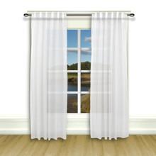 Lucerne Sheer Wanda Pleat Back Tab Curtains - 842249018800