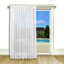Lucerne Sheer Wanda Pleat Back Tab Patio Panel - 842249018862