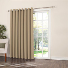 Gramercy Insulated Room Darkening Grommet Patio Panel -