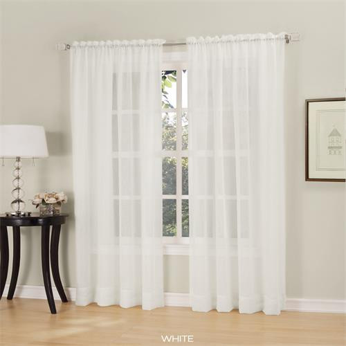 Erica Sheer Crushed Voile Curtain Panel -