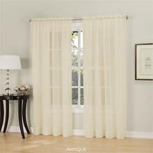 Erica Crushed Sheer Voile Rod Pocket Curtains -