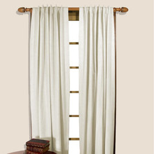 Homespun Insulated Back Tab Curtains -