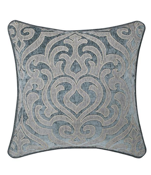 Sicily Teal Basic Square Pillow - 846339065996